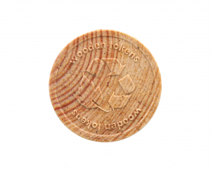 Wooden Token 29 mm round with engraving
