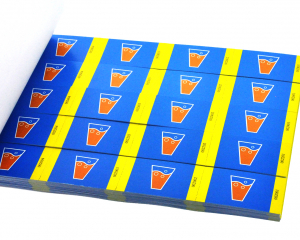 4 Drink Vouchers on a strip in a booklet with full colour print