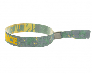 Woven Fabric Wristband 15 mm with metal closure