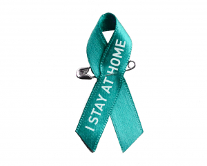 Blue Awareness Ribbon with 1 colour print