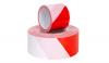 Absperrbänder aus Vorrat rot/weiss gestreift
