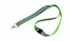 Green polyester Lanyard with reflective strip with safety break