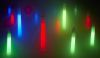 Red, blue and green Glow Sticks