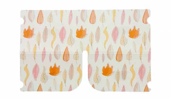 Foldable Mask Keeper with full colour print of autumn design