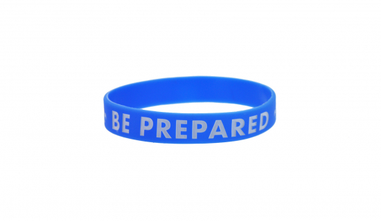 Dark blue Silicone Wristband for adult debossed with 1 colour fill ink