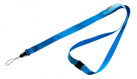 R-PET Lanyard 15 mm width with full colour print and safety break
