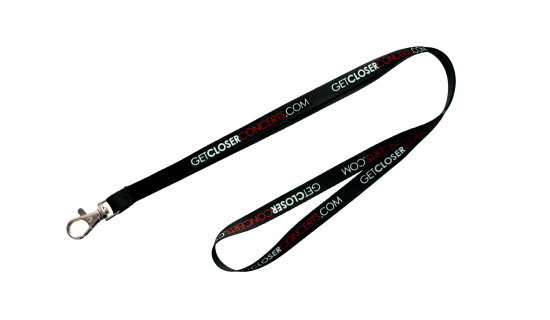 Satin Lanyard 10 mm width with full colour print