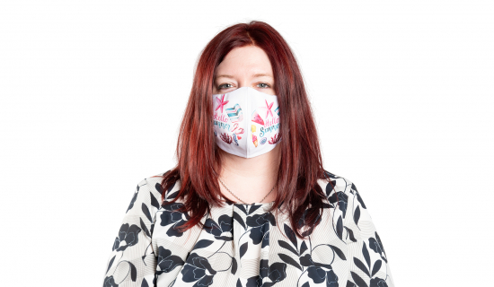 Non-surgical Face Mask with double layer and vertical seam