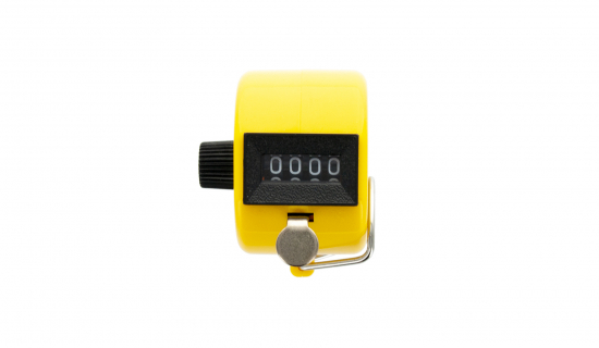 Yellow Tally Counter for manual counting