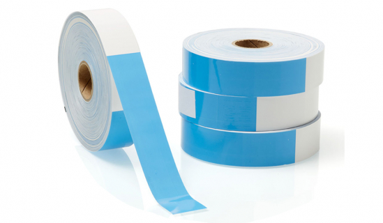 Blue Thermal Wristbands without print on a roll