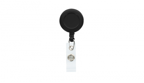 Black Badge Reel round with metal clip