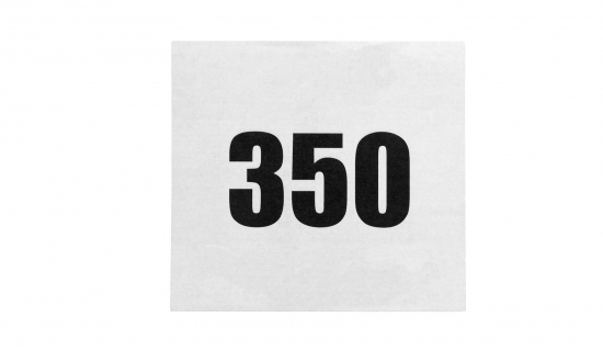 Arm Bib with black print and numbering