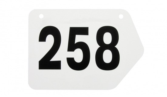 Frame Number with black print and numbering