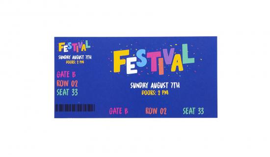 Biglietto entrate 140 x 70 mm stampa quadricromia