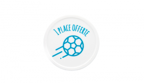 White Recycled Plastic Token 29 mm round with 1 colour print