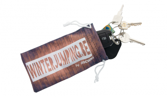 Printed Drawstring Pouch with a length of 160 mm to store keys