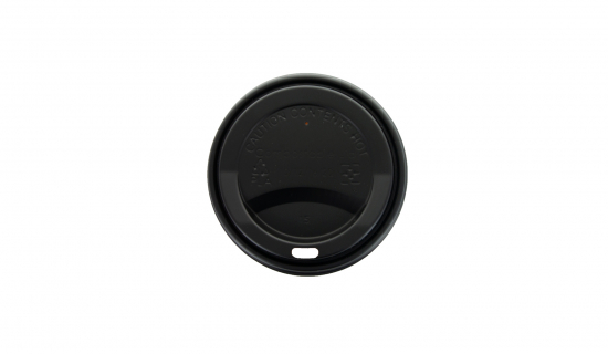 Black Lid 90 mm for Paper Cups with 350 ml pouring size