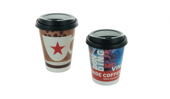 Black Lids for Paper Cups in different sizes