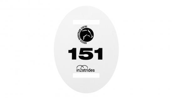 Νούμερα για χαλινάρια 102 x 135 χιλ με μαύρη εκτύπωση